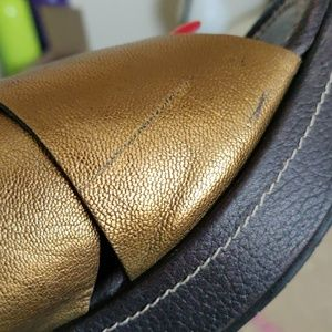 Donald J. Pliner Shoes - DJP DONALD J PLINER BRONZE WEDGE SANDALS 7M